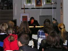 Hadayatullah Hübsch bei einer Lesung in Mainz, 2007.