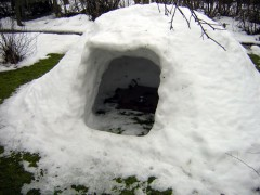 Iglu im Winter 2009/10.