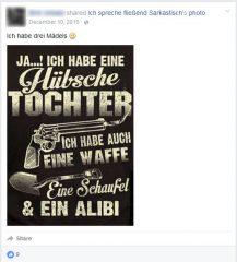 Zwei Wochen vor der Kölner Silvesternacht postet ein Hooligan, d.h. besorgter Bürger bei Facebook eine Mordankündigung.
