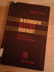 """Der Umschlag von Schapps """"In Geschichten verstrickt"""" ist gut (Form) und schlecht (Farben) zugleich."""
